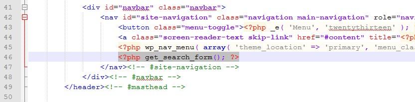 fichier header recherche code search