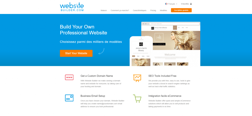 L'éditeur de sites web professionnel Website Builder