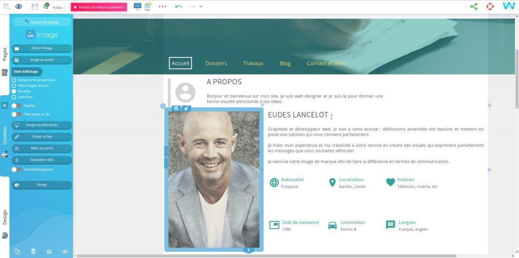 Modifier les images sur un site web grâce à l'éditeur de pages Internet SiteW