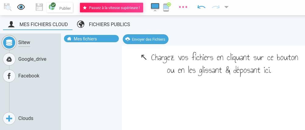 Gérer les fichiers téléchargeables et les images avec le gestionnaire de fichiers SiteW