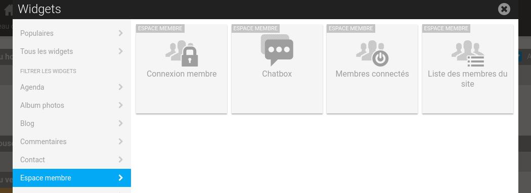 Gestion des membres côté site Internet dans l'interface d'administration de E-monsite