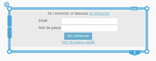 Exemple de formulaire de connexion pour les membres d'un site créé avec SiteW