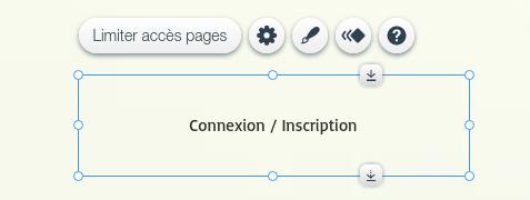 Fenêtre de connexion des membres dans l'éditeur de site en ligne Wix