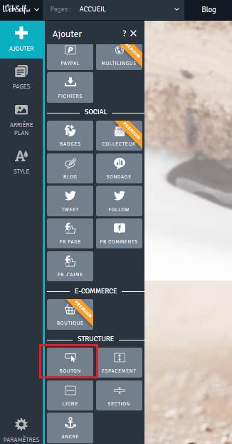 Ajouter un bouton CTA personnalisé sur une page Internet avec Webself