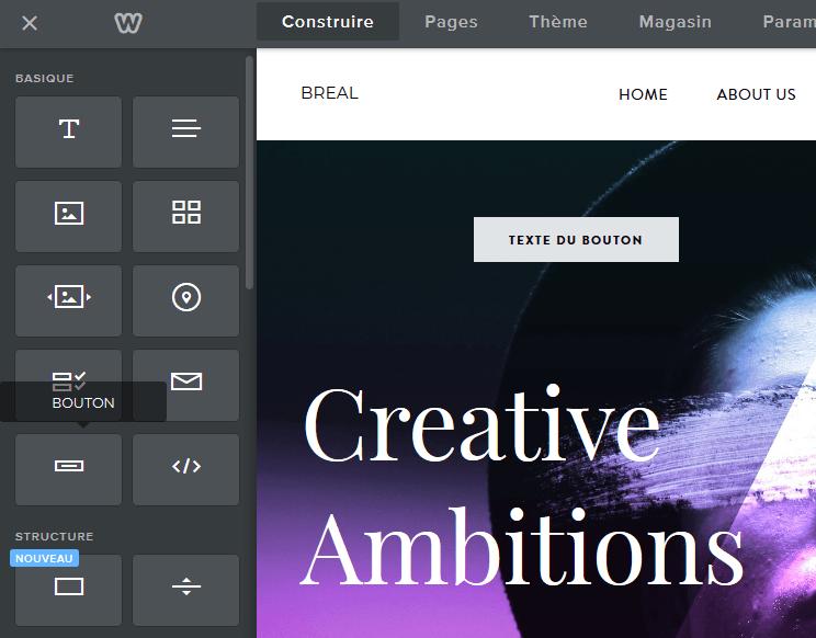 Utiliser des boutons sur un site créé avec Weebly