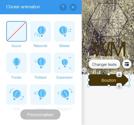 Créer des animations sur un bouton d'appel à l'action (CTA) avec Wix