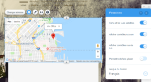 Insérer une carte Google Maps avec Wix