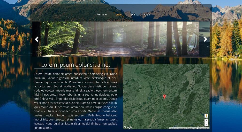 Ajouter une image en fond de page d'un site de photographe avec SiteW