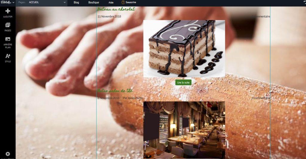 Créer gratuitement un blog photo avec Webself