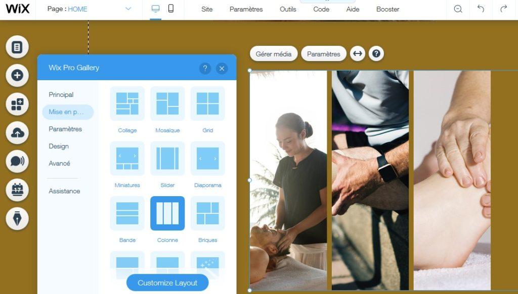 Créer une page d'accueil attractive pour un site de thérapeute avec Wix
