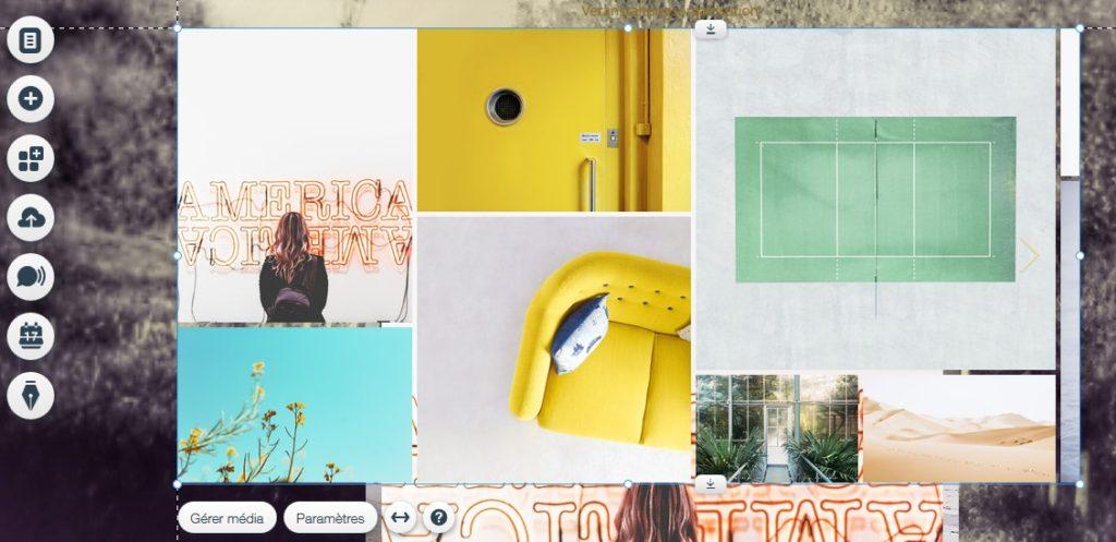 Créer une galerie pour un book photo en ligne avec Wix