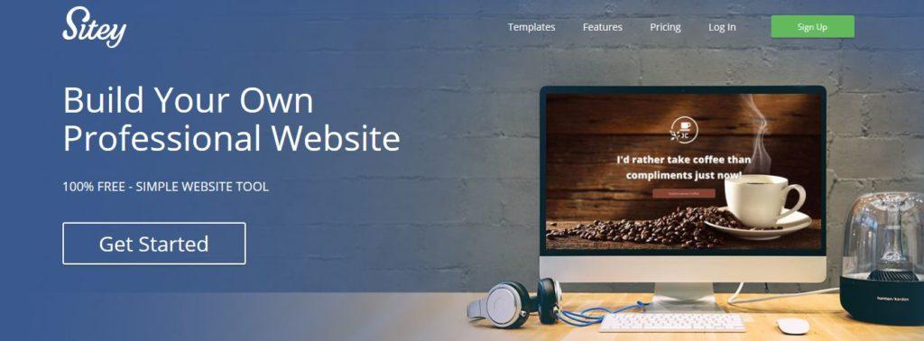 Créer un site professionnel avec l'éditeur de site en ligne Sitey