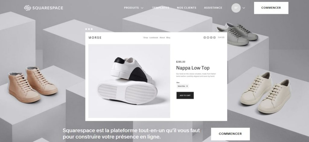 Créer un site avec la plateforme en ligne SquareSpace