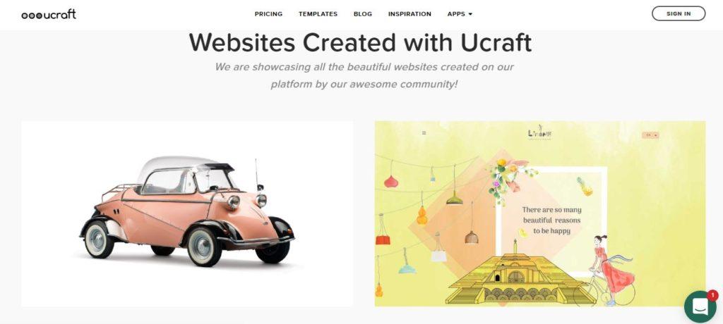 Créer un site avec la plateforme de création de site Ucraft