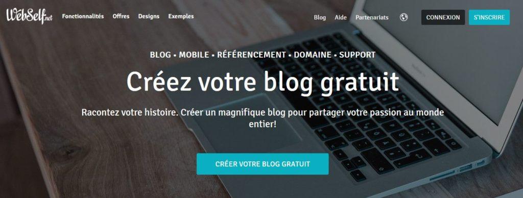 Créer un blog gratuit avec Webself