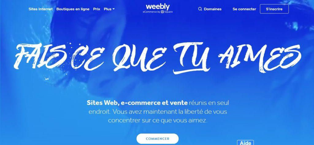 Créer un site web, e-commerce et vente avec Weebly