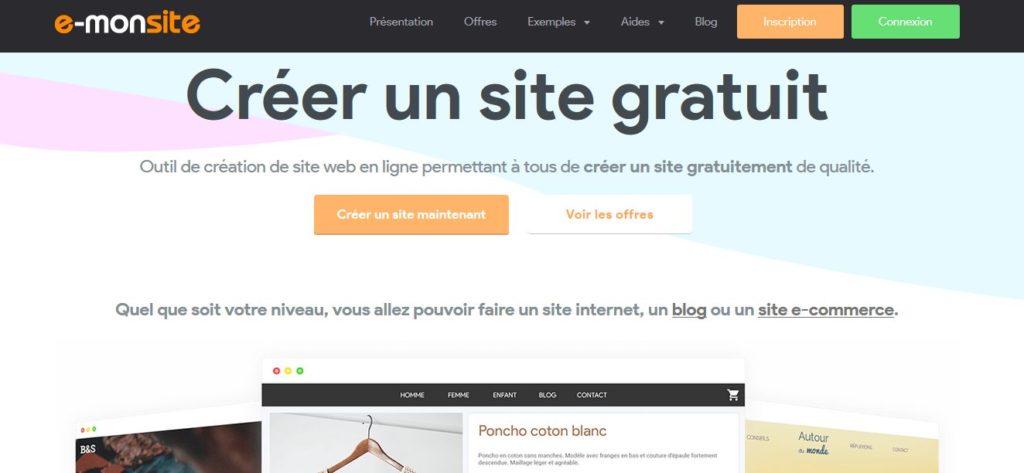 Tenter de créer un site gratuit avec e-monsite