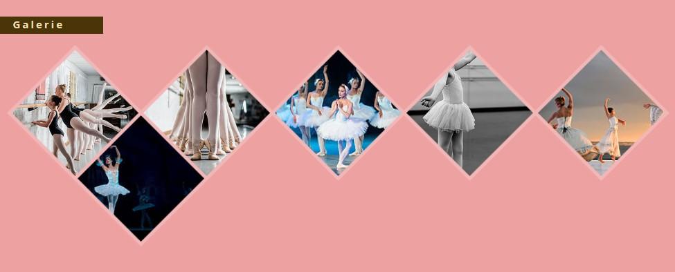 Galerie d'images Wix pour le site d'un club de danse