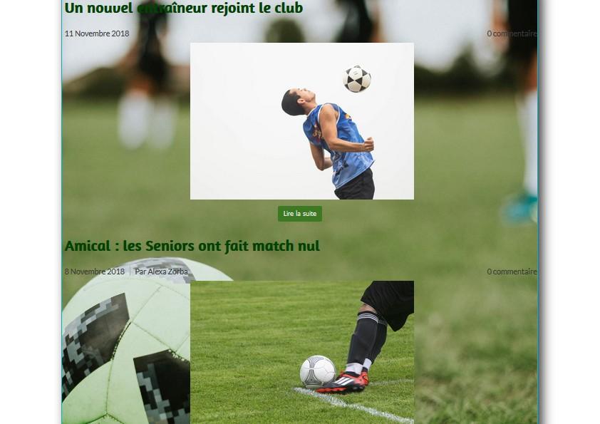 Créer un blog sportif avec l'éditeur de site en ligne Webself