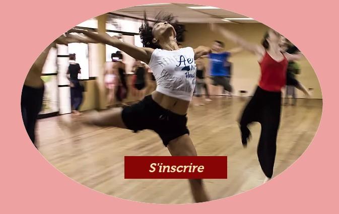 Bouton CTA dans une image Wix pour un site de club de danse