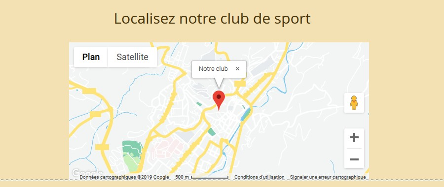 Intégrer une carte dans un site Wix pour localiser un club de sport