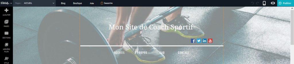 Ajouter des boutons de partage social sur un blog coach sportif avec Webself