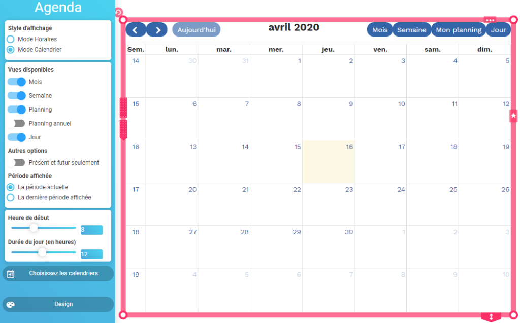 Agenda SiteW